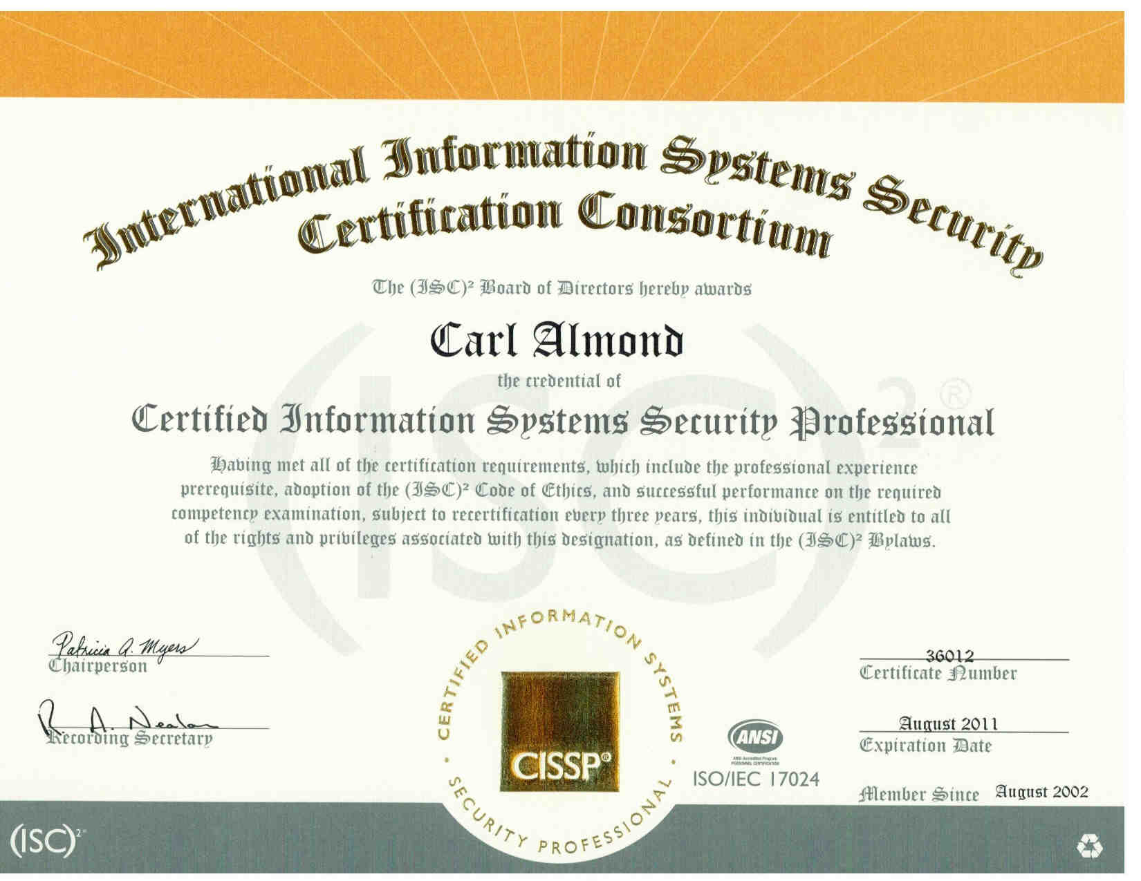 resume of carl h  almond jr