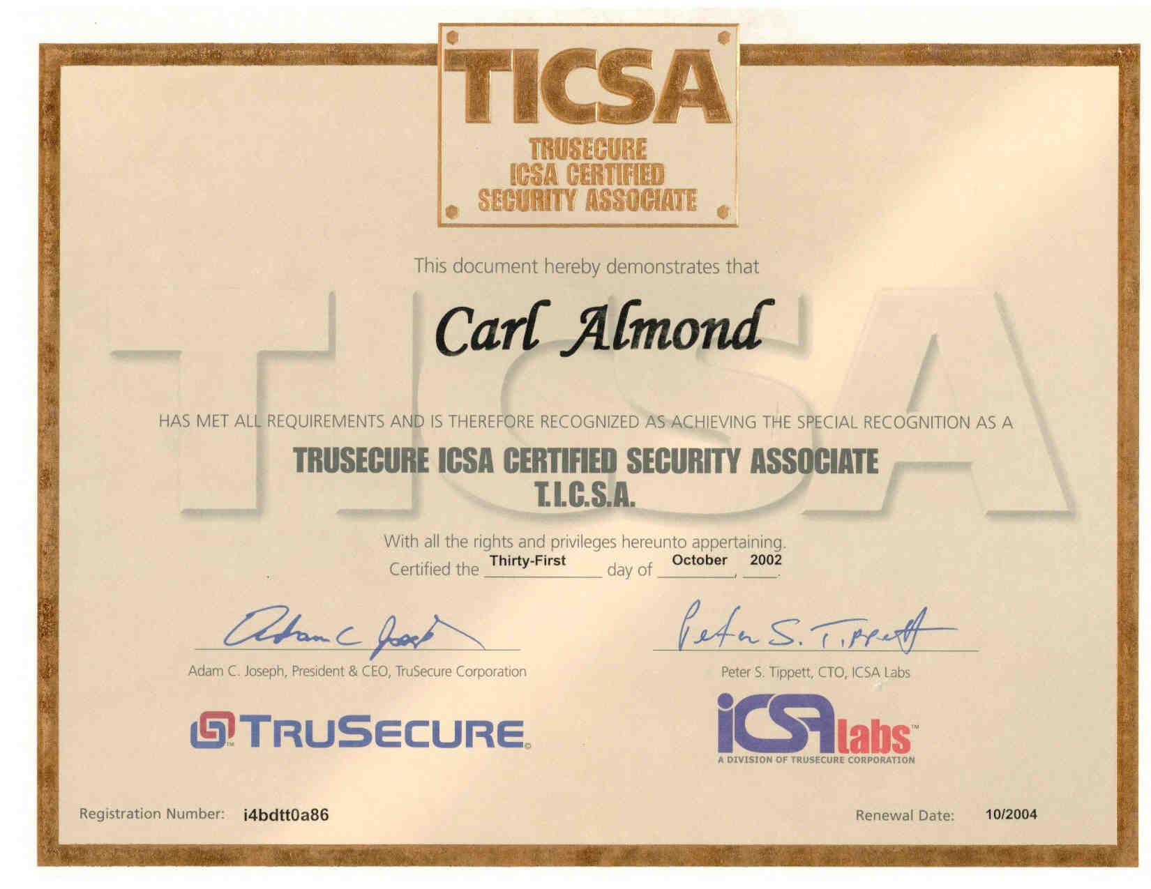 Resume of carl h almond jr mcse mcpi mcp cna ccnp ccna ccdp ccda ccsa security network and i net 1betcityfo Images